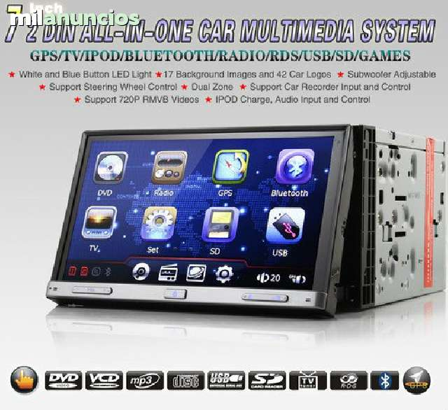 RADIO DVD 7  HD GPS BLUETOOTH IPOD 3G WI - foto 2
