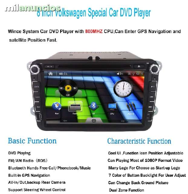 RADIO DVD HD GPS BLUETOOTH IPOD GOLF 5, 6 - foto 1