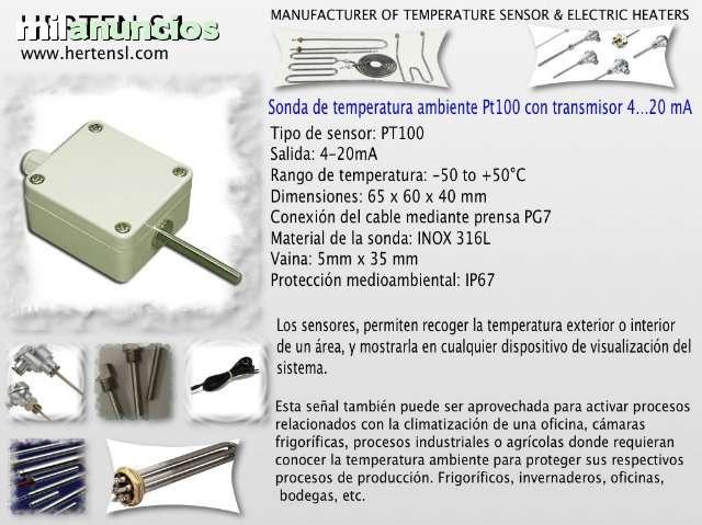 SONDA DE TEMPERATURA AMBIENTE PT100 - foto 1