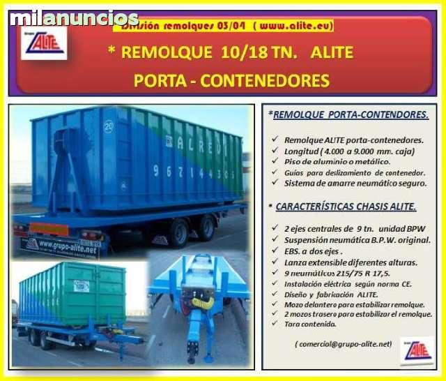 PORTA-CONTENEDORES - REMOLQUE ALITE - foto 1