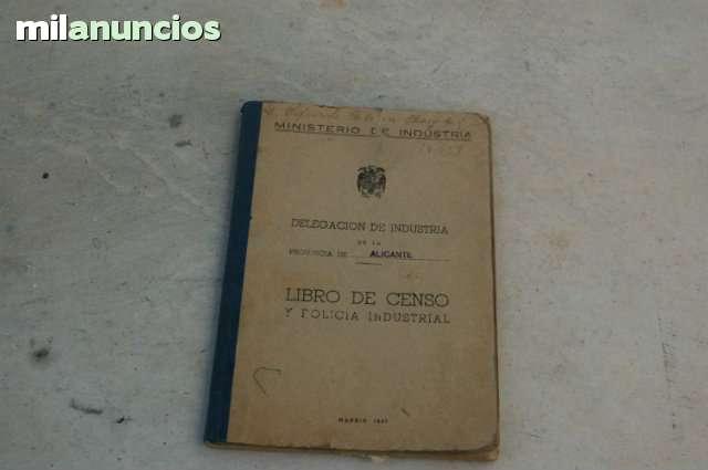 Libro De Censo Y Policia Industrial
