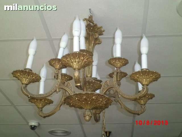 milanuncios lampara de bronce de techo araña