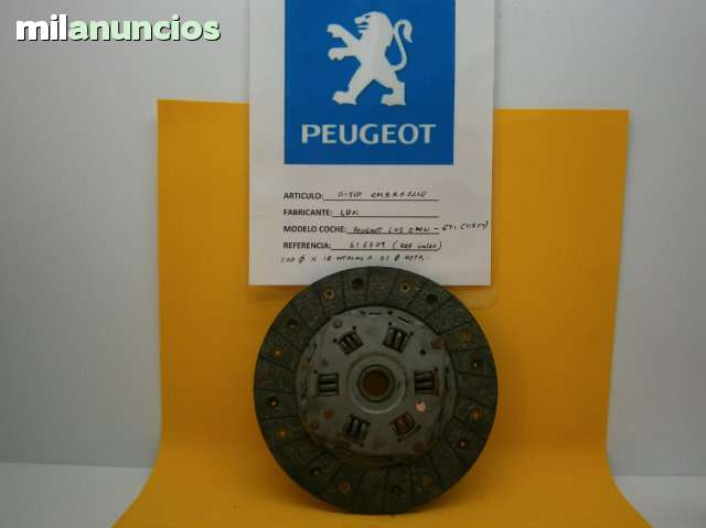 DISCO EMBRAGUE PEUGEOT 205 GTI - foto 1
