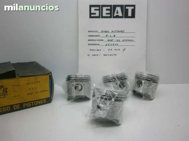 JUEGO PISTONES SEAT 133 NORMAL - foto 1
