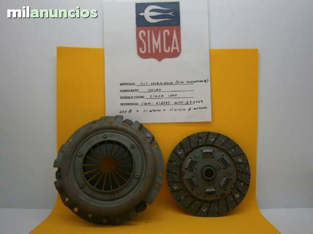 KIT DE EMBRAGUE SIMCA 1000 - foto 1