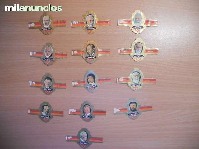 38 Vitolas Serie Personajes