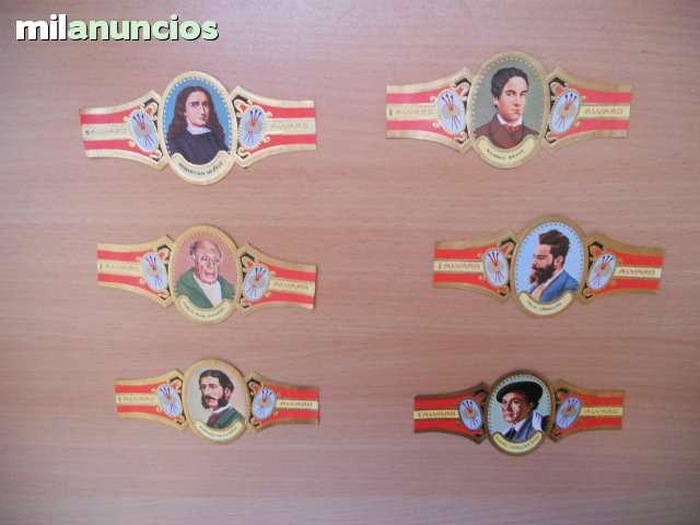 6 Vitolas Serie Pintores