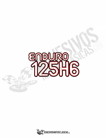 ADHESIVOS MONTESA ENDURO 125 H6 - foto 1