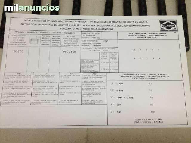 TORNILLOS DE CULATA SEAT 124 1. 6/1. 8/2. 0 - foto 7