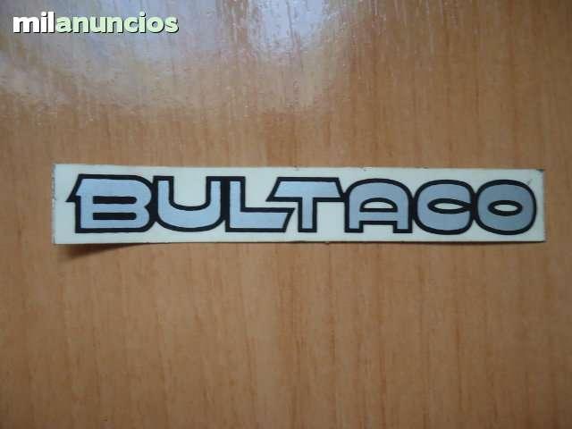 ADHESIVO BULTACO PLATEADO 115X17 MM.  - foto 1