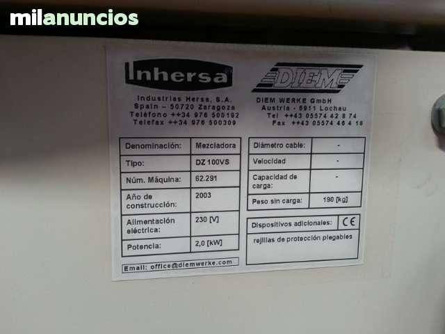 MEZCLADORA INHERSA DZ-100 VS NUEVA - foto 2