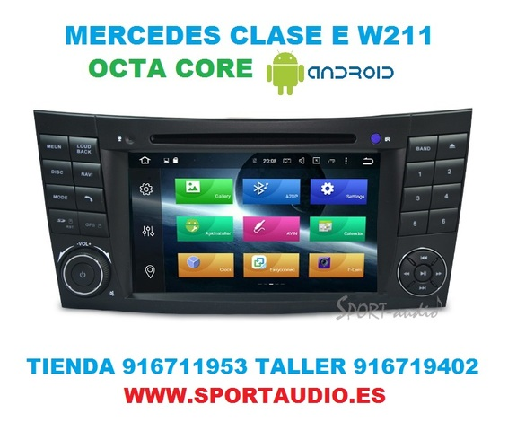 RADIO ANDROID NAVEGADOR MERCEDES  E W211 - foto 8