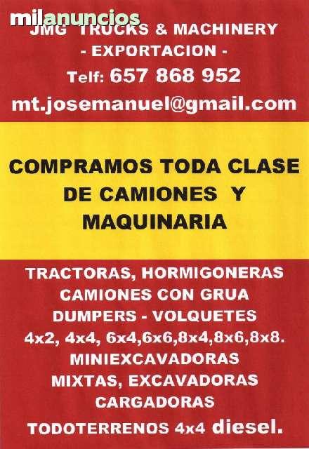 COMPRAMOS CAMIONES Y MAQUINARIA DE O. P.