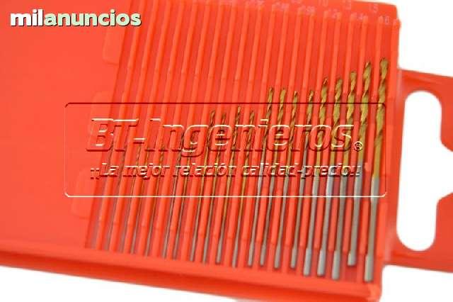 JUEGO DE 20 MINI BROCAS HSS 0. 3 A 1. 6 MM - foto 1