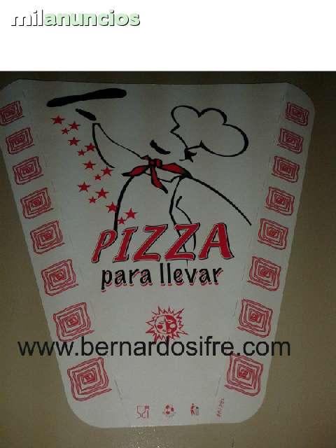 PORCION DE CARTON PARA PIZZA,  TRIANGULO - foto 1