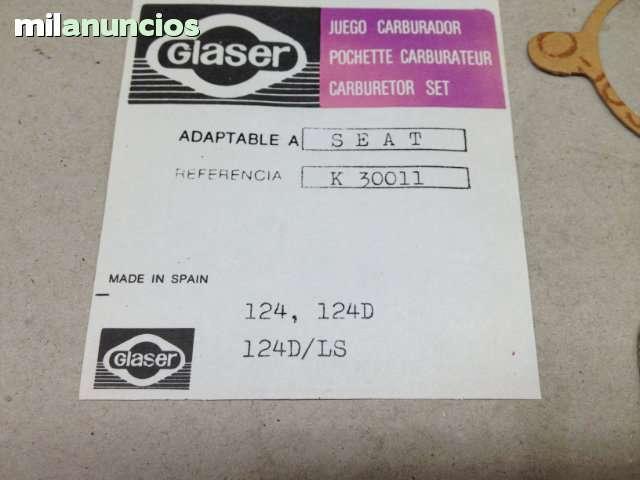 JUEGO DE JUNTAS CARBURADOR SEAT 124 - foto 4