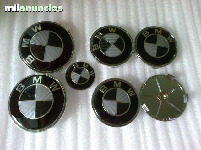 SET 7 LOGOS EMBLEMAS BMW CARBONO NEGRO - foto 1