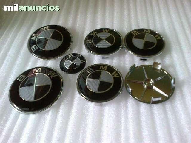 SET 7 LOGOS EMBLEMAS BMW CARBONO NEGRO - foto 2
