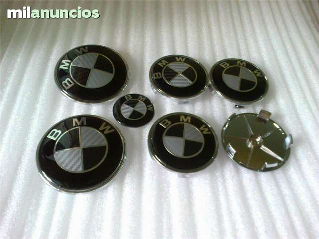 SET 7 LOGOS EMBLEMAS BMW CARBONO NEGRO - foto 3