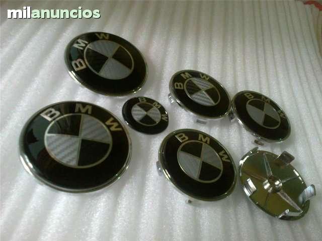 SET 7 LOGOS EMBLEMAS BMW CARBONO NEGRO - foto 4