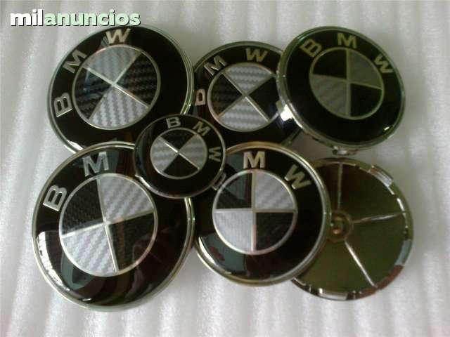 SET 7 LOGOS EMBLEMAS BMW CARBONO NEGRO - foto 5