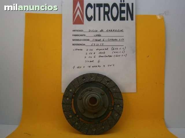 DISCO EMBRAGUE CITROEN 2 CV, DYANE 6 - foto 1