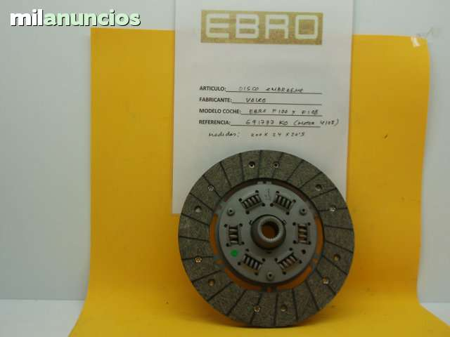 DISCO EMBRAGUE EBRO F 100 Y F 108 - foto 1