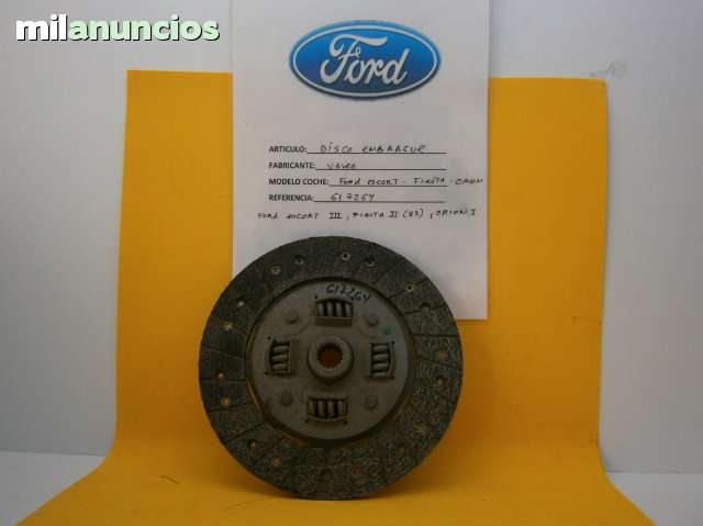 DISCO EMBRAGUE FORD FIESTA, ESCORT, ORION - foto 1