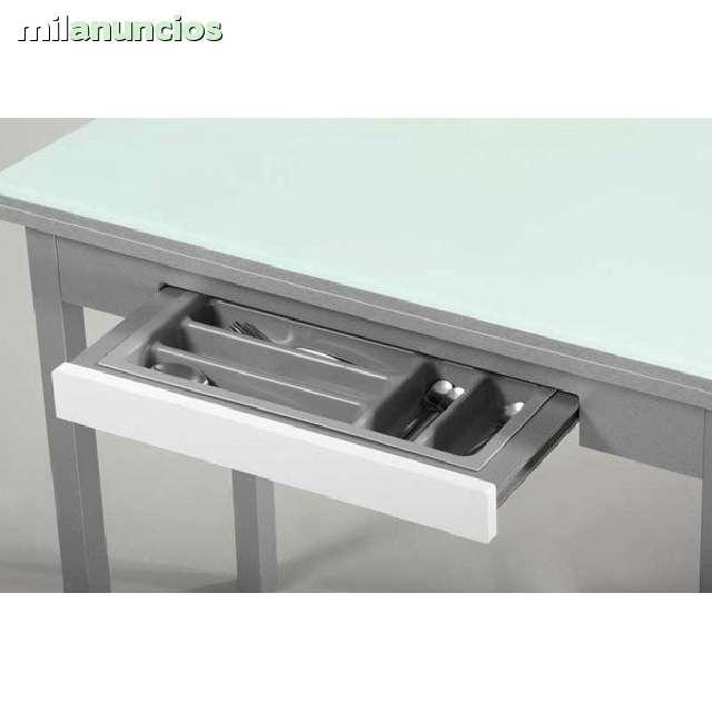 MIL ANUNCIOS.COM - Mesa de cocina de cristal extensible