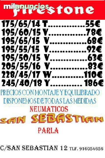 NEUMATICOS SAN SEBASTIAN PARLA 165/65/14 - foto 4