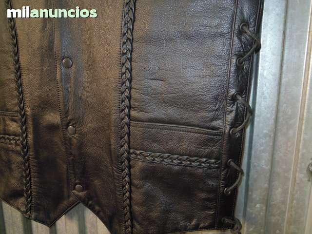 CHALECO REAL LEATHER DE PIEL TRENZADO - foto 2