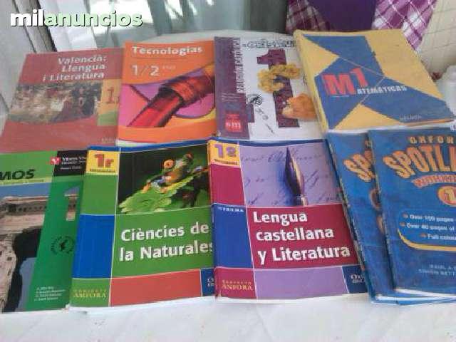 LIBROS DE 1º, 2º, 3º Y 4º DE LA E. S. O.