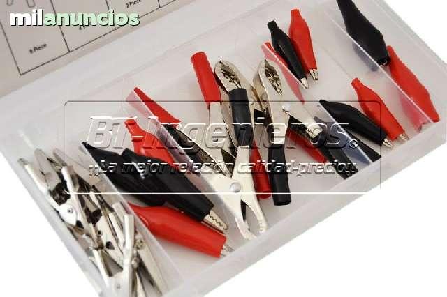 JUEGO DE 24 PINZAS DE COCODRILO VARIADAS - foto 1