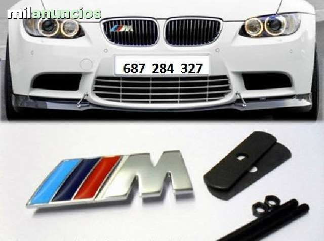 EMBLEMA REJILLA BMW M DE  MÉTAL NUEVO - foto 3