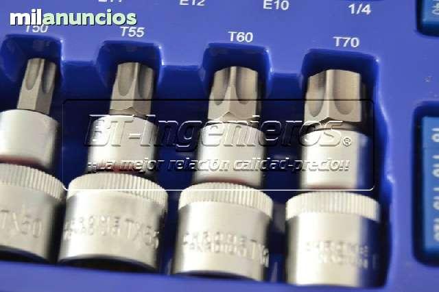 JUEGO DE 27 PIEZAS TORX.  VASOS Y PUNTAS - foto 2