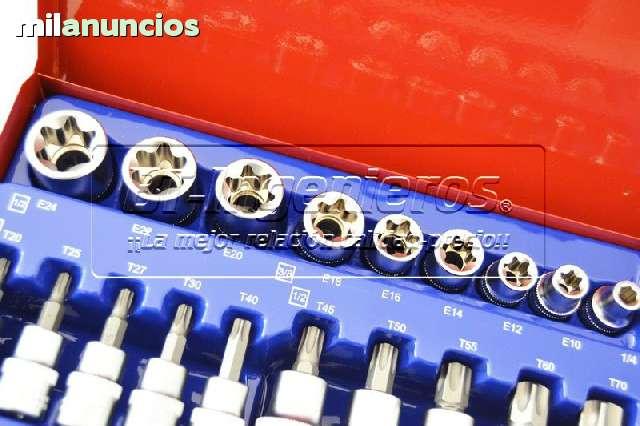 JUEGO DE 27 PIEZAS TORX.  VASOS Y PUNTAS - foto 3