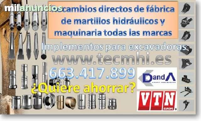 RECAMBIOS MAQUINAS MARTILLOS HIDRÁULICOS - foto 1
