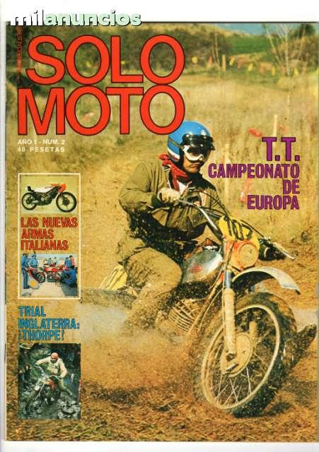REVISTAS SOLO MOTO ACTUAL DE 1975 A 1990