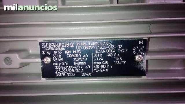 MOTOR ELECTRICO SIEMENS 6. 3 KW - foto 3
