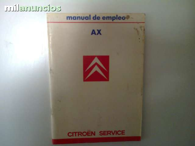 MANUAL DEL USUARIO DEL CITROEN AX - foto 1