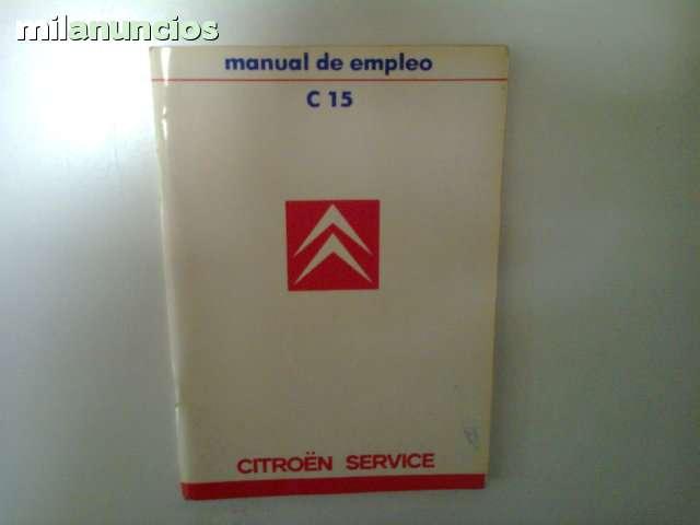 MANUAL DEL USUARIO DE CITROEN C15 - foto 1