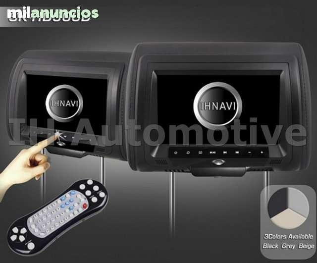2X REPOSA CABEZAS 9 DVD USB SD JUEGOS - foto 1