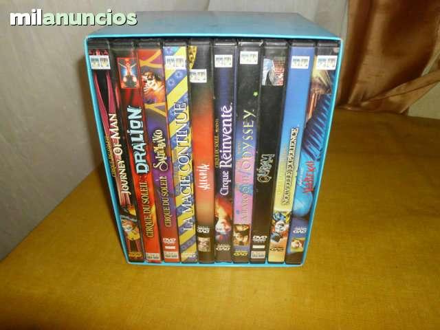 CIRCO DEL SOL 10 DVD COMPLETO