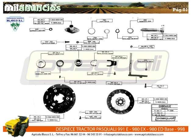 REPUESTOS Y RECAMBIOS TRACTORES PASQUALI - foto 2