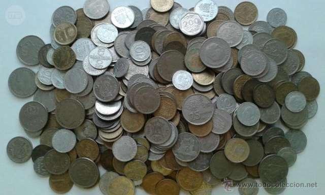 Monedas De Franco Y Del Rey Juan Carlos