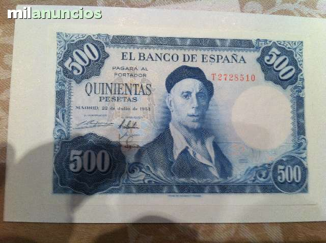 Vendo Billete 500 Pts Plancha