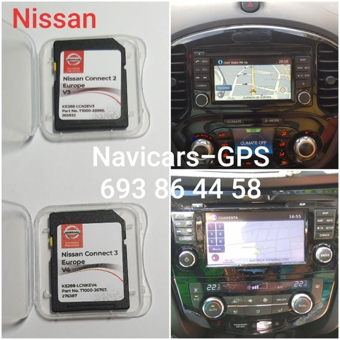 MAPA SD NISSAN CONNECT 3 Y 2 EUR 2019