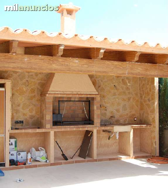 Barbacoas modernas de obra fabulous outdoor kitchen or - Barbacoas de obra rusticas ...