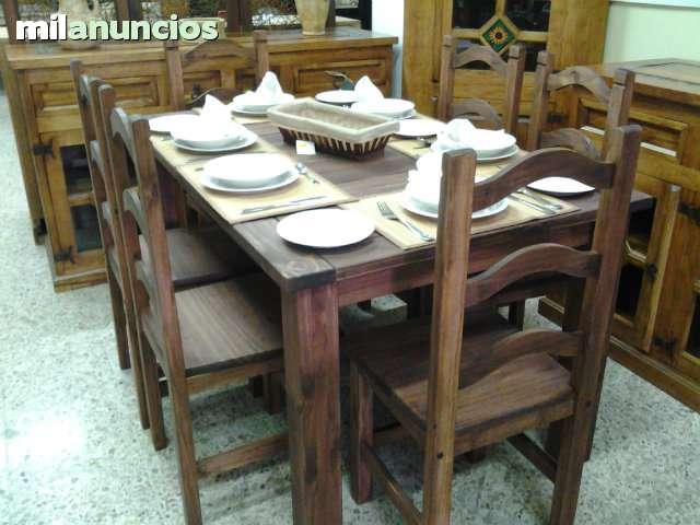 29 dic Mesa rustica mexicana incluida las seis sillas de medida