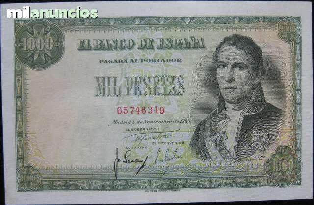 1000 Pesetas 1949 Sin Serie Ebc+